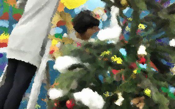 クリスマスツリー設営